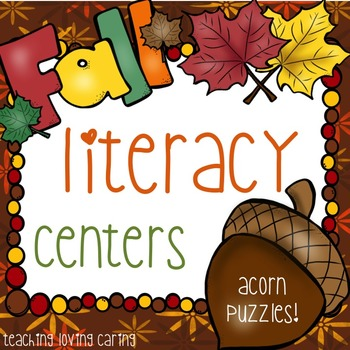 Fall Literacy Center - Acorn Puzzles