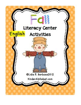 Fall Literacy Center Activities (English)