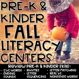 Fall Literacy Center Activities for Kindergarten & Prescho