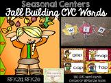 CVC Word Activities: Fall Literacy Center