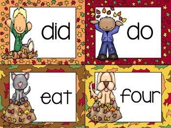 Fall Literacy Center: Building Sight Words with Leaves