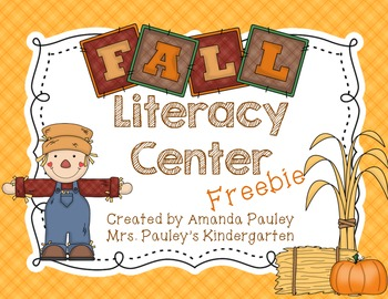 Fall Literacy Center {Freebie}