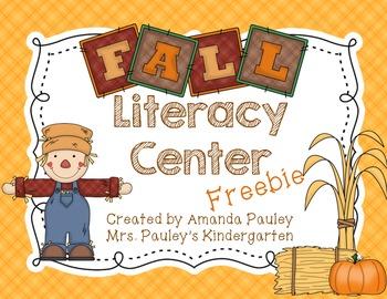Fall Literacy Center {Freebie}