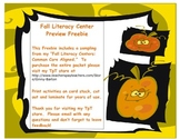 Fall Literacy Center Preview *Freebie* Common Core Aligned