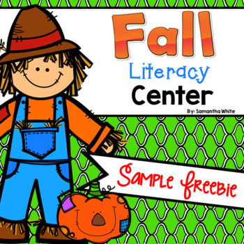 Fall Literacy Center {Sample FREEBIE}