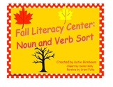 Fall Literacy Center: Verb and Noun Sort