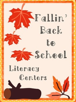 Fall Literacy Centers: Compound Words, Sentence Scramble,