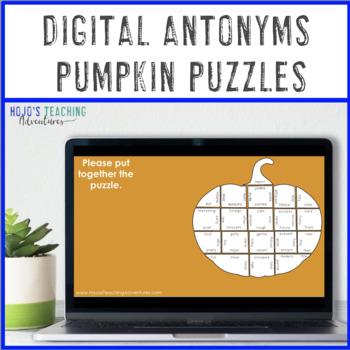 Pumpkin Antonyms Worksheet Alternative | Fall Literacy Centers or Games