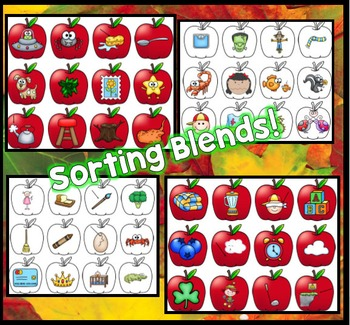 Blends, Sight Word Fluency, ABC Order: Fall