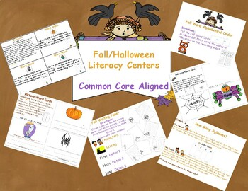 Fall Literacy Centers: Common Core Aligned