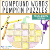 COMPOUND WORDS Pumpkin Literacy Activities | Fall ELA Games or Centers