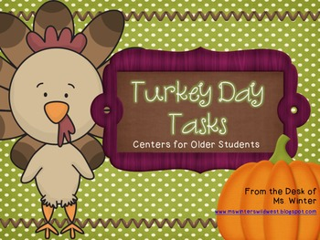 Fall Literacy Centers For Older Students