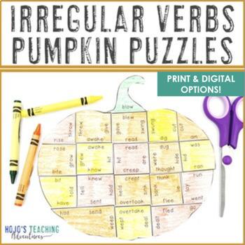 Thanksgiving Activities: Irregular Verbs Pumpkin Puzzles   November Activities