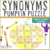SYNONYMS Pumpkin Activity, Game, or ELA Center | FUN Thank