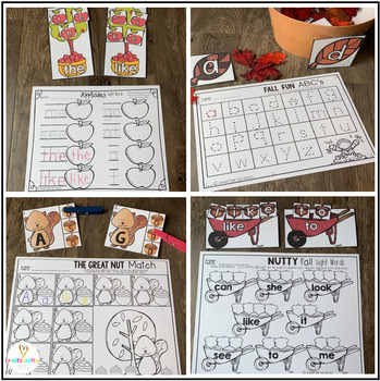 Fall Literacy Centers {CCSS}