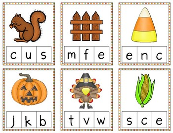 Fall Literacy Centers for Prek and Kindergarten