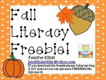 Fall Literacy FREEBIE!