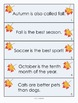 Fall Literacy Fun Centers/Task Cards