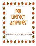 Fall Literacy Fun