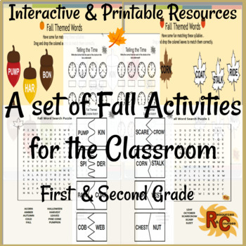 Image of Seasonal Products by R&C  Fall Activities for the Classroom G1-2