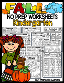 FALL WORKSHEETS- 75+Literacy & Math Worksheets for fall (KINDERGARTEN)