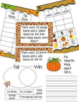 Fall Literacy Pack