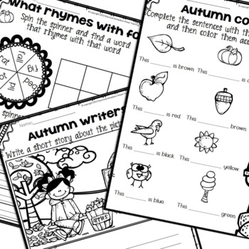 Fall Literacy Packet {Kindergarten No PREP}