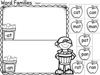 Fall Literacy Printables- No Prep, Print and Go!