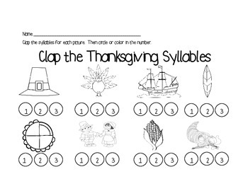 Fall Literacy Printable Worksheets