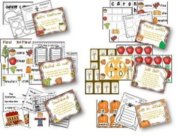 Fall Literacy Stations {12 Stations}