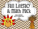 Fall Literacy & Math Activities