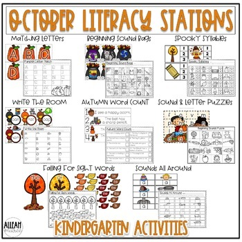 Fall Literacy Stations for October {Kindergarten}