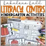 October Literacy Stations {Kindergarten}