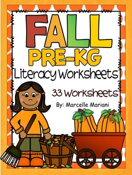 Fall Literacy Worksheets- Letter Recognition and Beginning