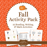 Fall Literacy Centers and Fall Math Activities