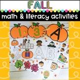 Preschool Fall Activities- Pumpkin Literacy and Math Cente