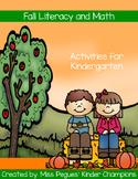 Fall Literacy and Math Kindergarten