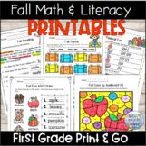 Fall Literacy and Math Packet(1st Grade)