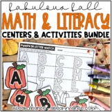 October Literacy and Math Stations {Kindergarten}
