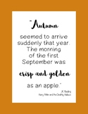 Fall Literary Poster Set
