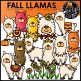 Fall Llamas Clip Art Set {Educlips Clipart}