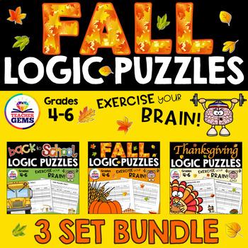 Fall Logic Puzzles Bundle
