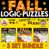 Fall Logic Puzzles Bundle