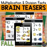 Fall Logic Puzzles   Multiplication and Division Facts