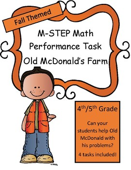 Fall M-STEP Performance Tasks Pack of 4