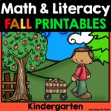 Fall Math and Literacy No-Prep {Kindergarten}