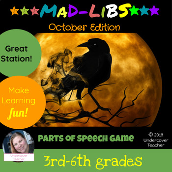 Fall Halloween Mad-Libs Style Parts of Speech Story Activi