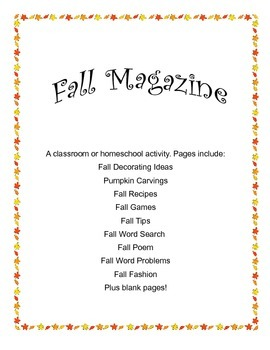 Fall Magazine: A classroom or homeschool activity
