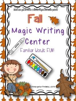 "Fall ""Magic"" Writing Center (no Halloween themed items)"