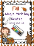 "Fall ""Magic"" Writing Center (no Halloween themed items)"